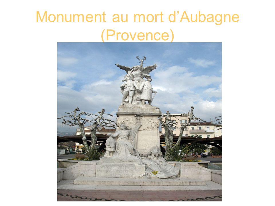 Monument au mort d'Aubagne (Provence)