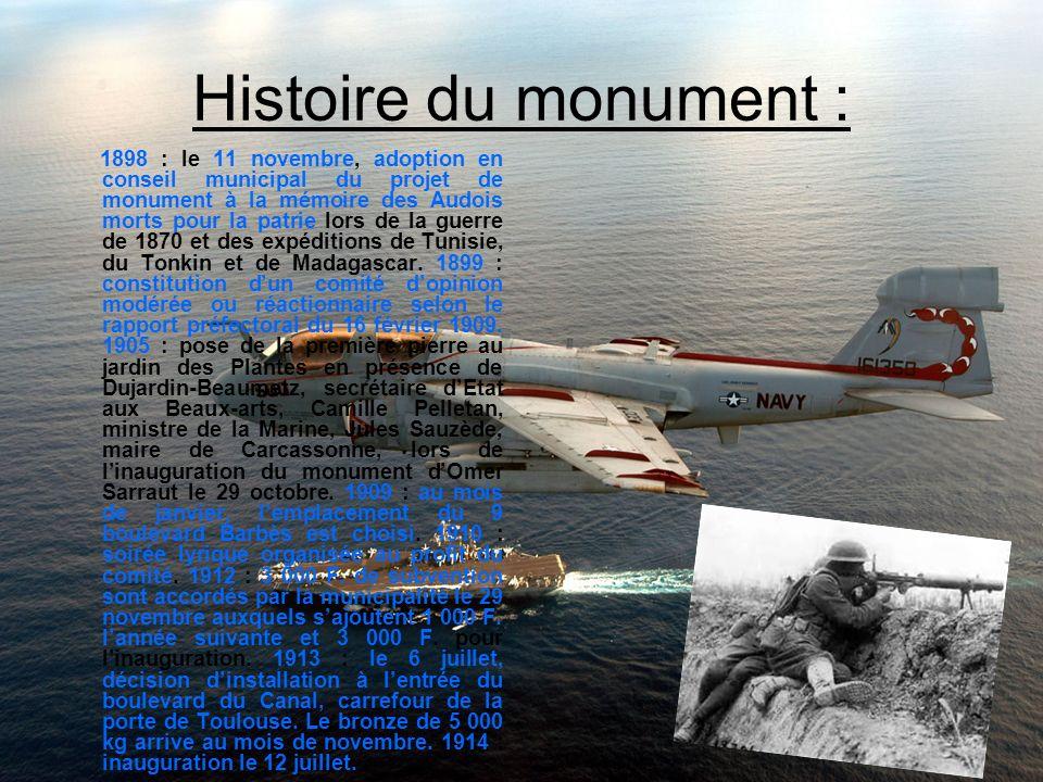 Histoire du monument :