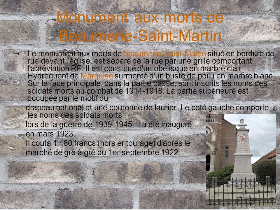 Monument aux morts de Beaumerie-Saint-Martin