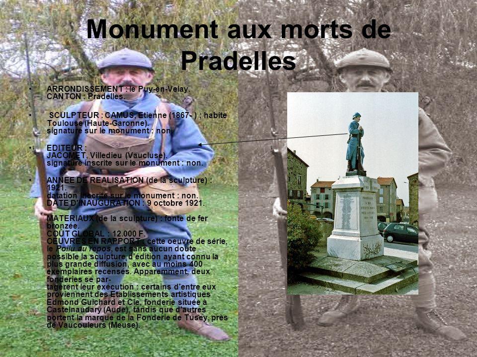 Monument aux morts de Pradelles