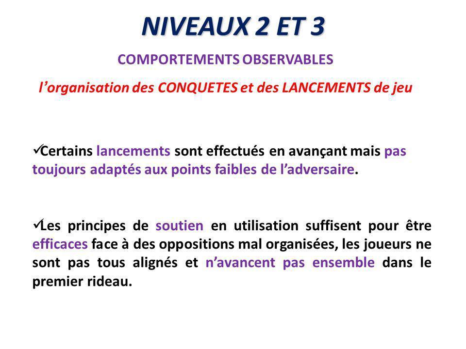 NIVEAUX 2 ET 3 COMPORTEMENTS OBSERVABLES