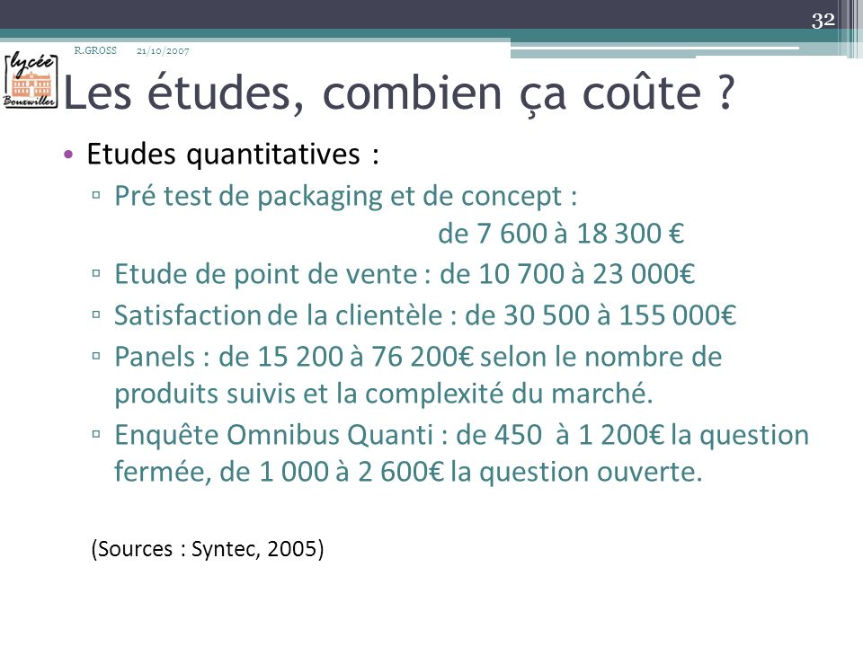 Les études, combien ça coûte