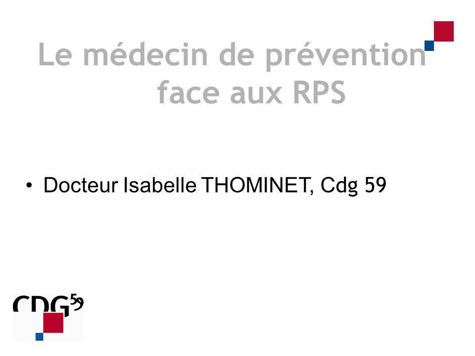 Le médecin de prévention face aux RPS