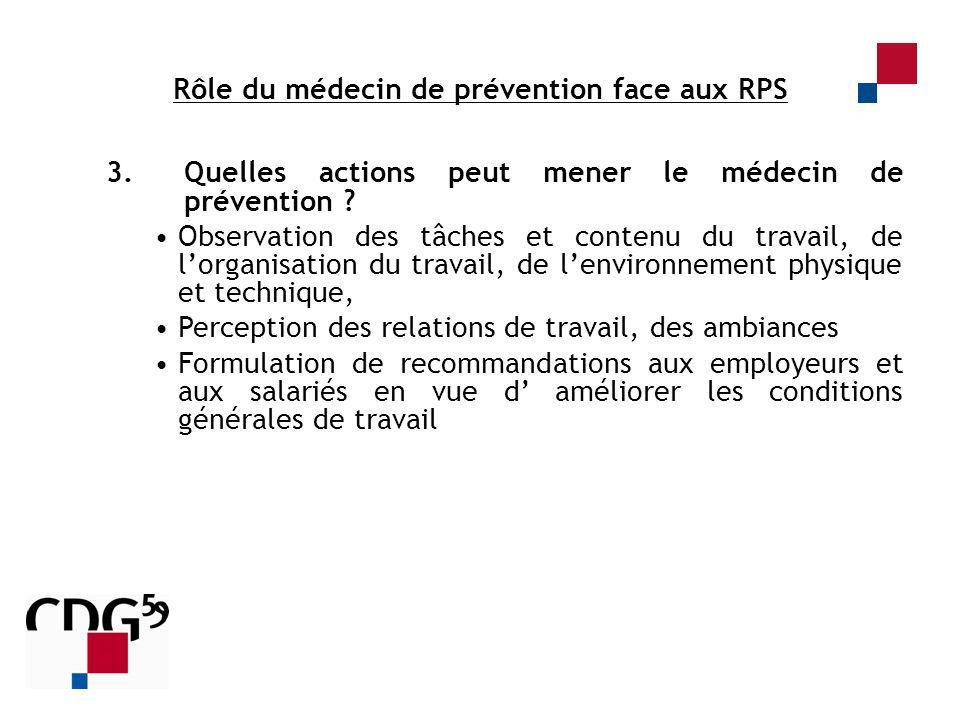 Rôle du médecin de prévention face aux RPS