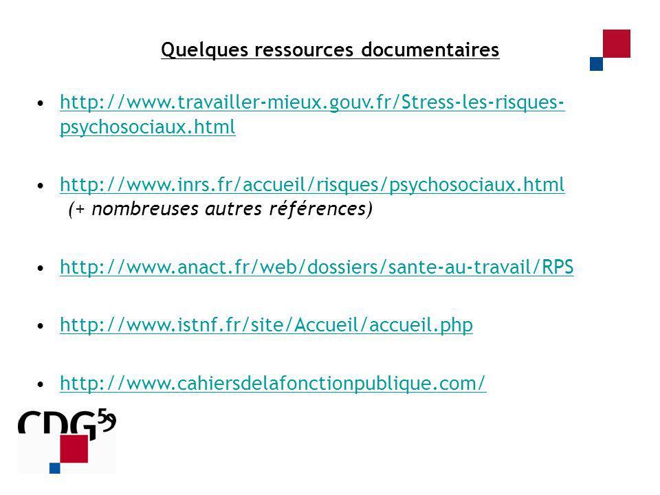 Quelques ressources documentaires