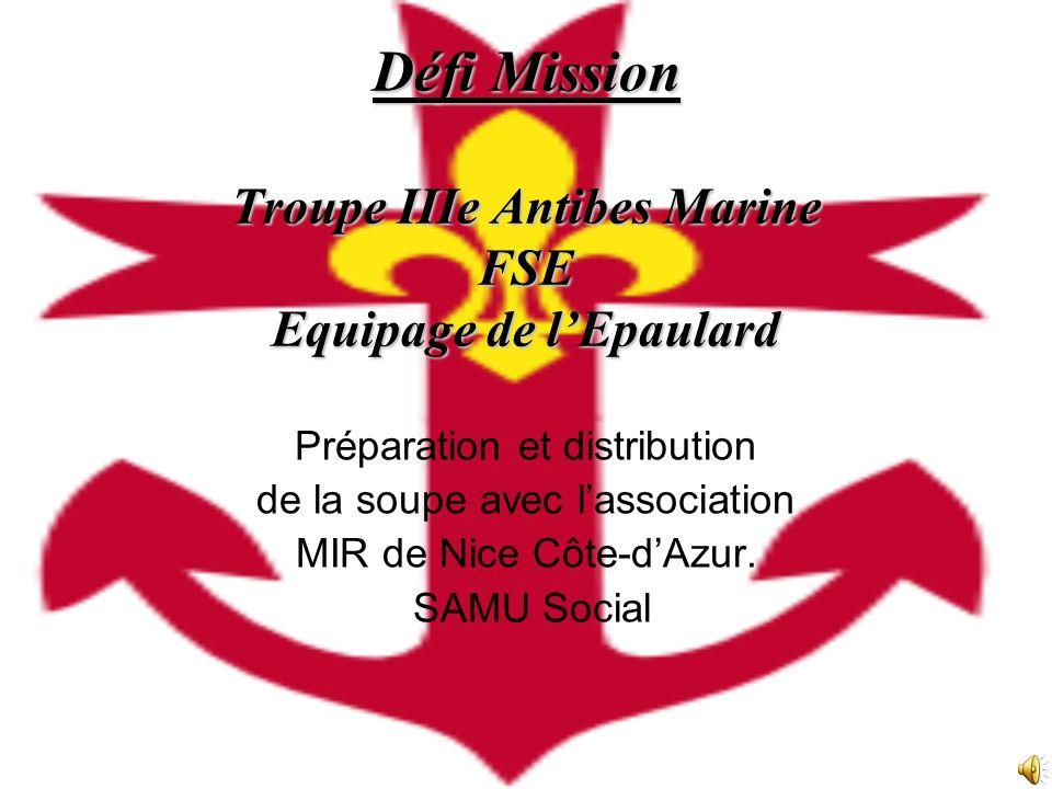 Défi Mission Troupe IIIe Antibes Marine FSE Equipage de l'Epaulard