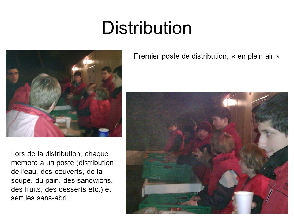 Distribution Premier poste de distribution, « en plein air »