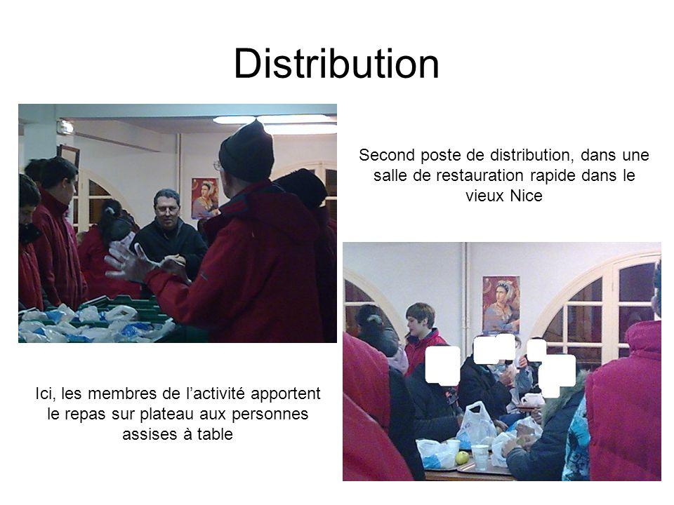 Distribution Second poste de distribution, dans une salle de restauration rapide dans le vieux Nice.