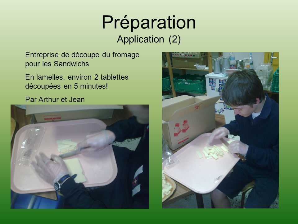 Préparation Application (2)