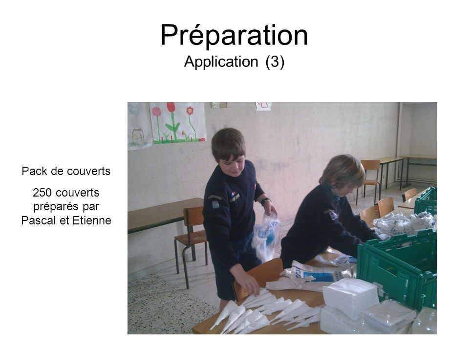 Préparation Application (3)