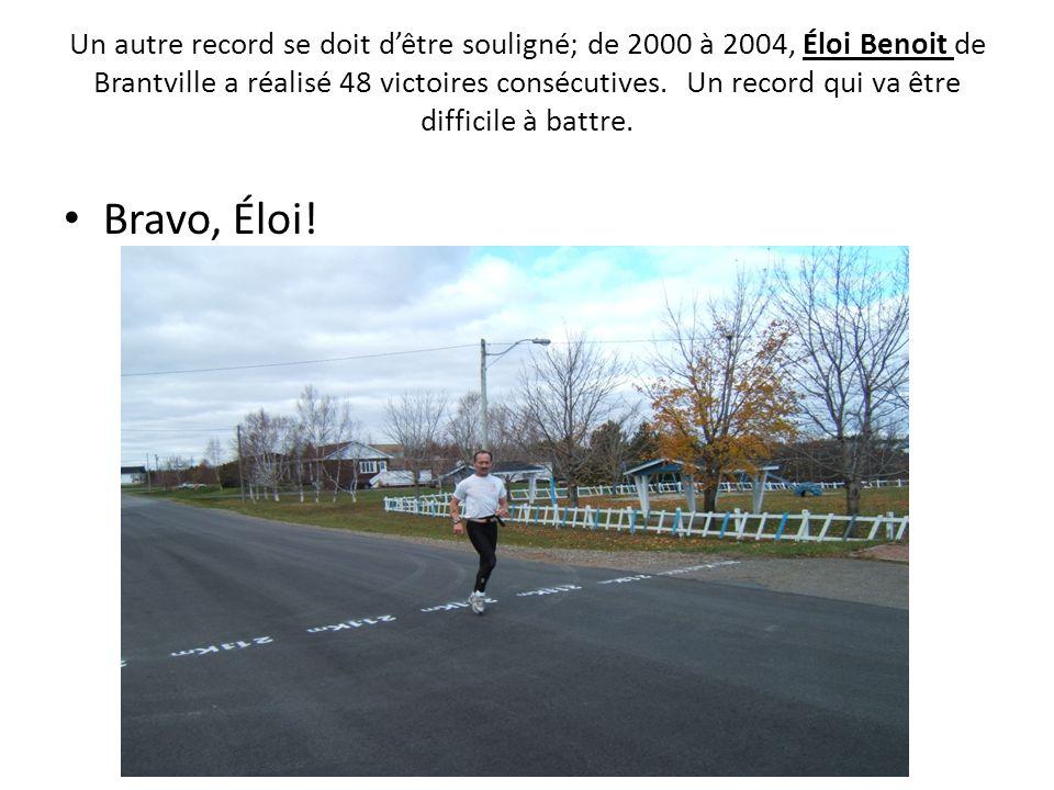 Un autre record se doit d'être souligné; de 2000 à 2004, Éloi Benoit de Brantville a réalisé 48 victoires consécutives. Un record qui va être difficile à battre.