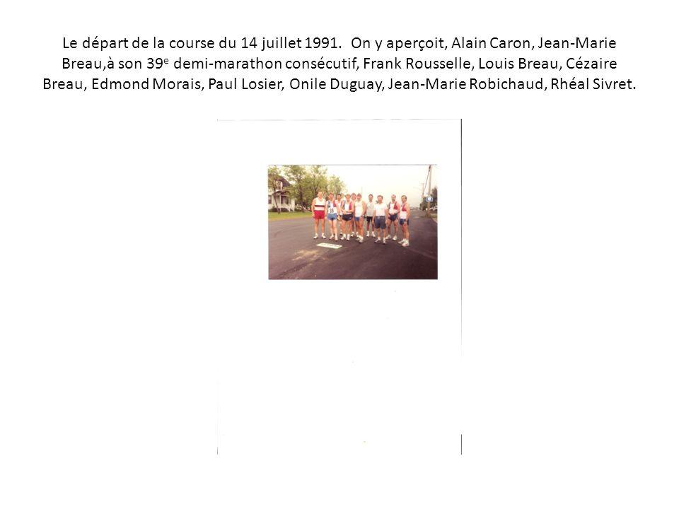 Le départ de la course du 14 juillet 1991