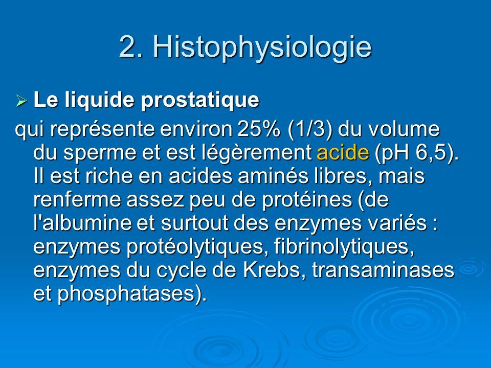 2. Histophysiologie Le liquide prostatique