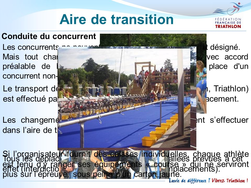 Aire de transition Conduite du concurrent