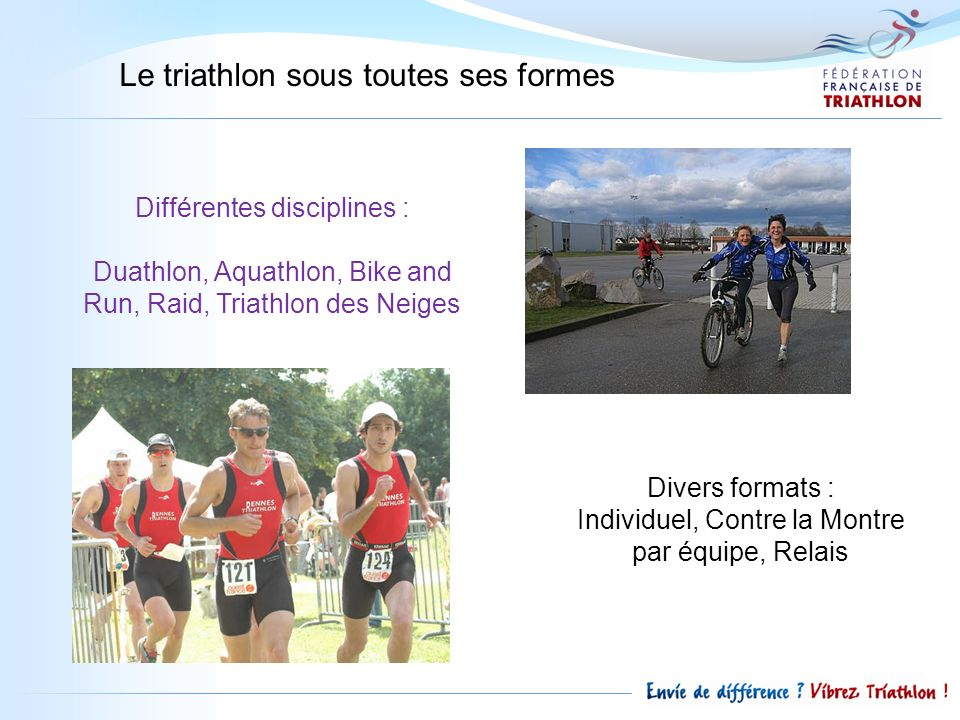 Le triathlon sous toutes ses formes