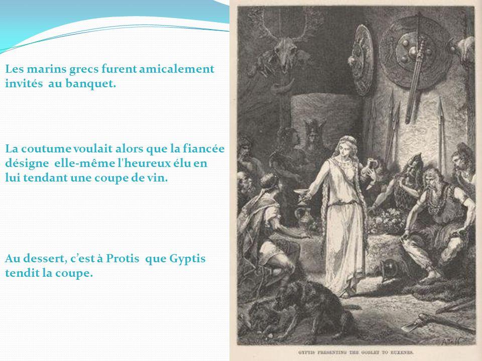 Les marins grecs furent amicalement invités au banquet.