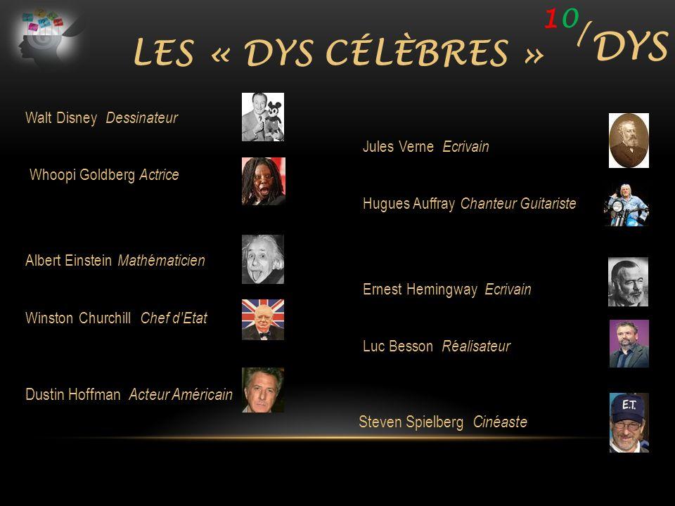 Les « DYS célèbres » 10 / Dustin Hoffman Acteur Américain
