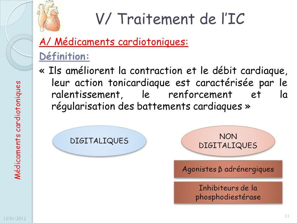 V/ Traitement de l'IC