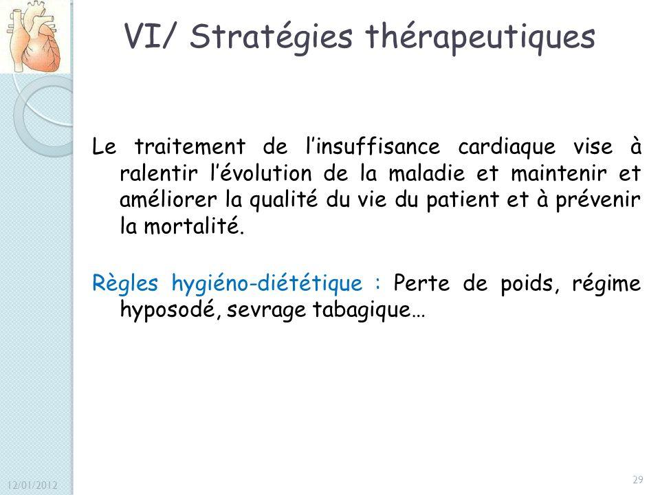 VI/ Stratégies thérapeutiques