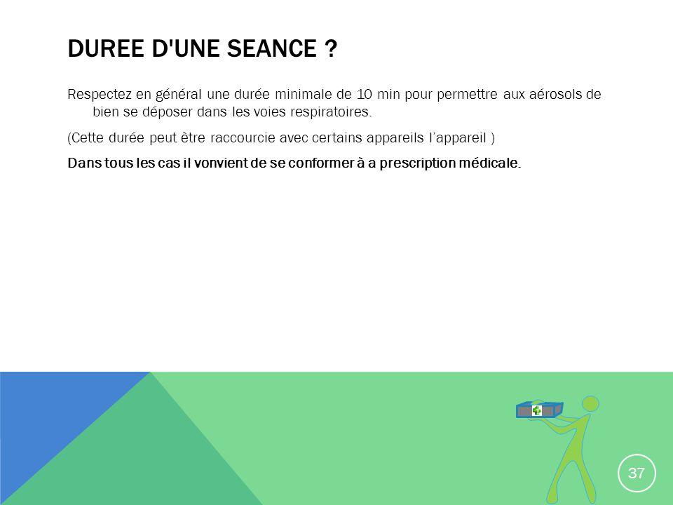 DUREE D UNE SEANCE