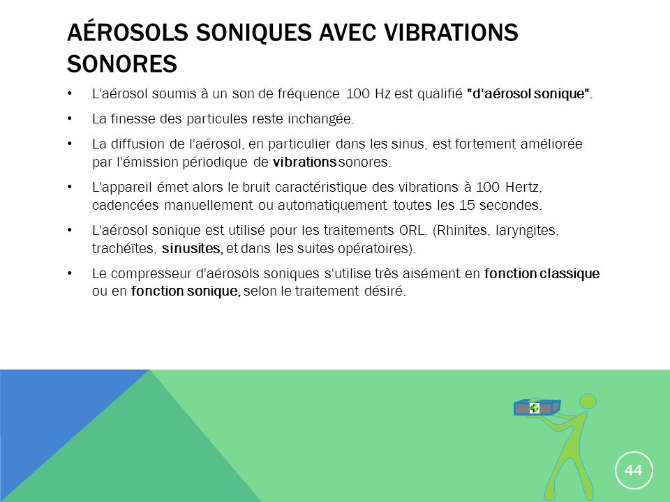 Aérosols soniques avec vibrations sonores