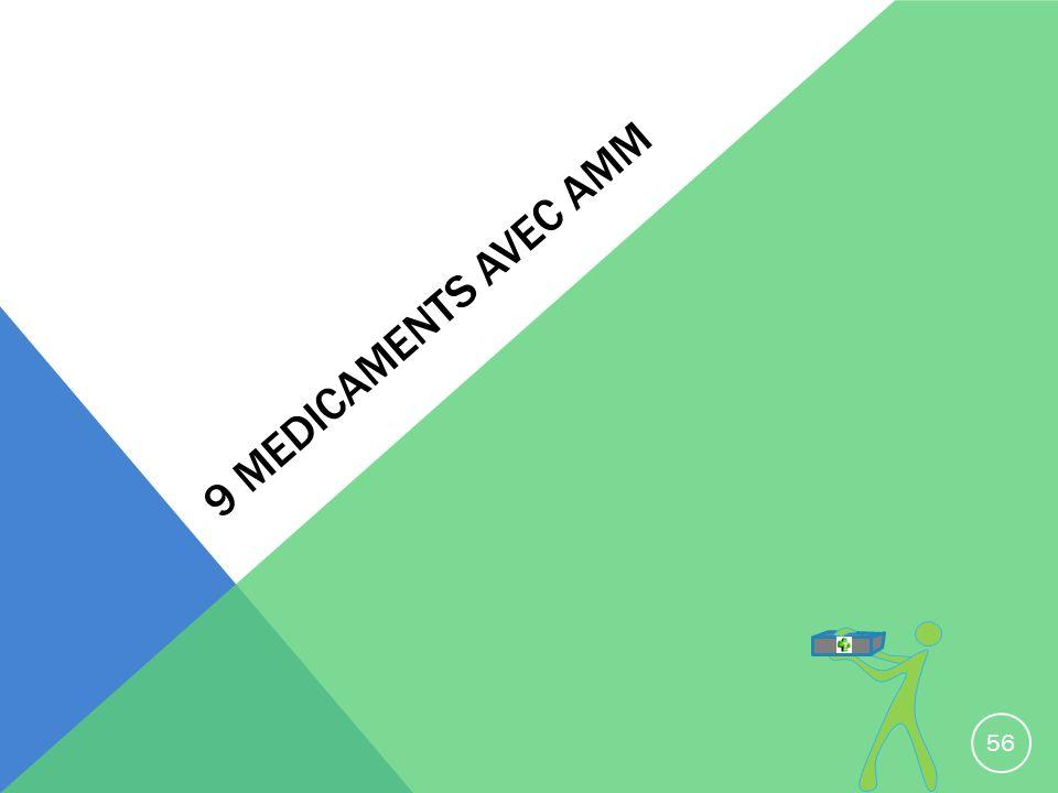 9 medicaments avec amm