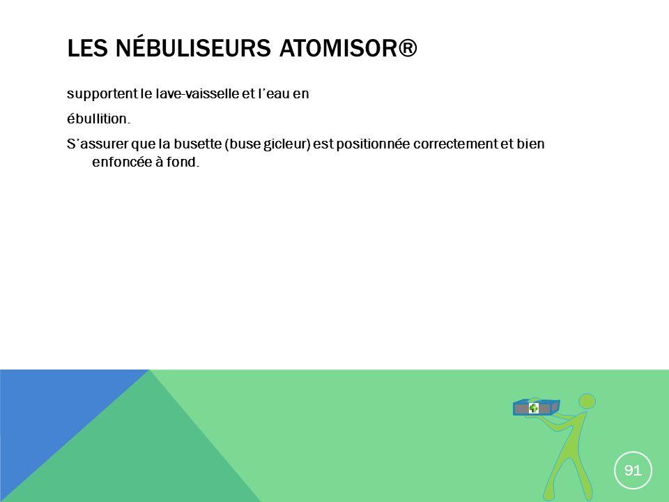 Les nébuliseurs ATOMISOR®