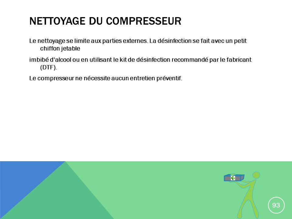 NETTOYAGE DU COMPRESSEUR