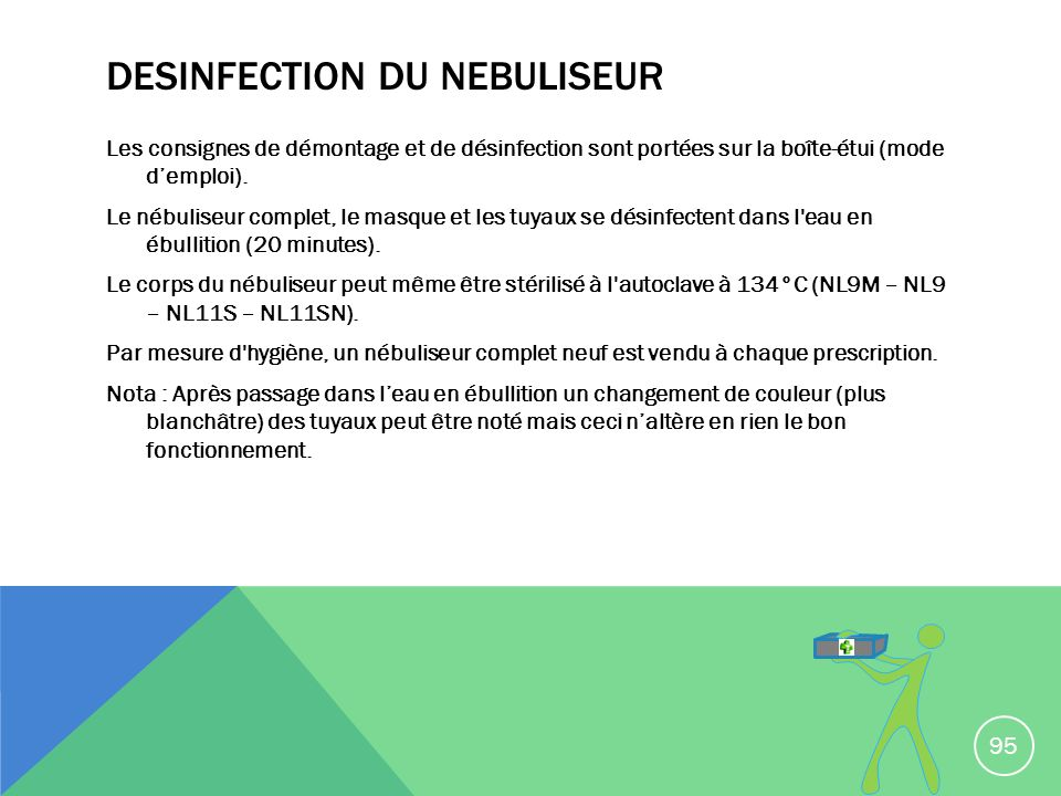 DESINFECTION DU NEBULISEUR