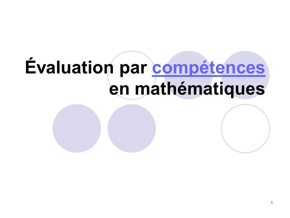 Évaluation par compétences en mathématiques