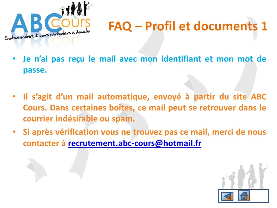 FAQ – Profil et documents 1