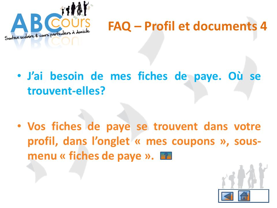 FAQ – Profil et documents 4