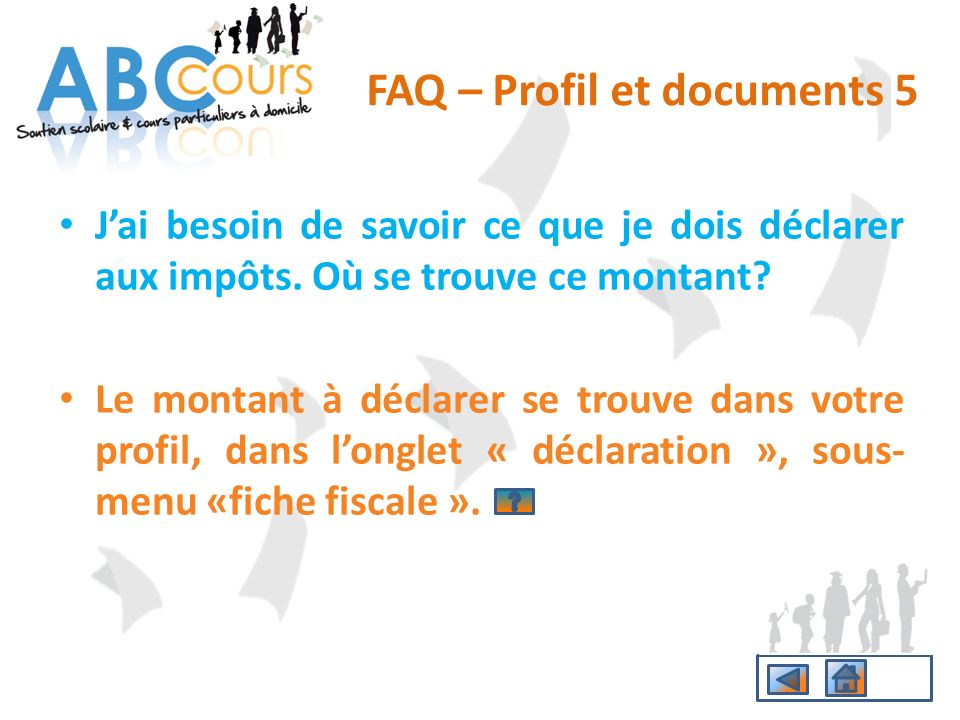 FAQ – Profil et documents 5