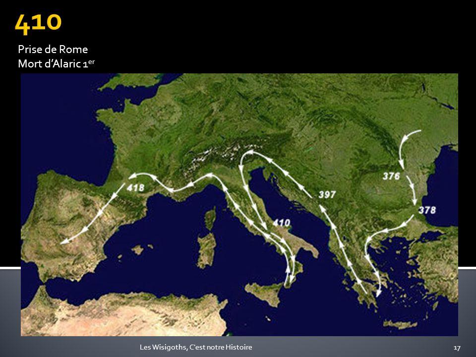 410 Prise de Rome Mort d'Alaric 1er