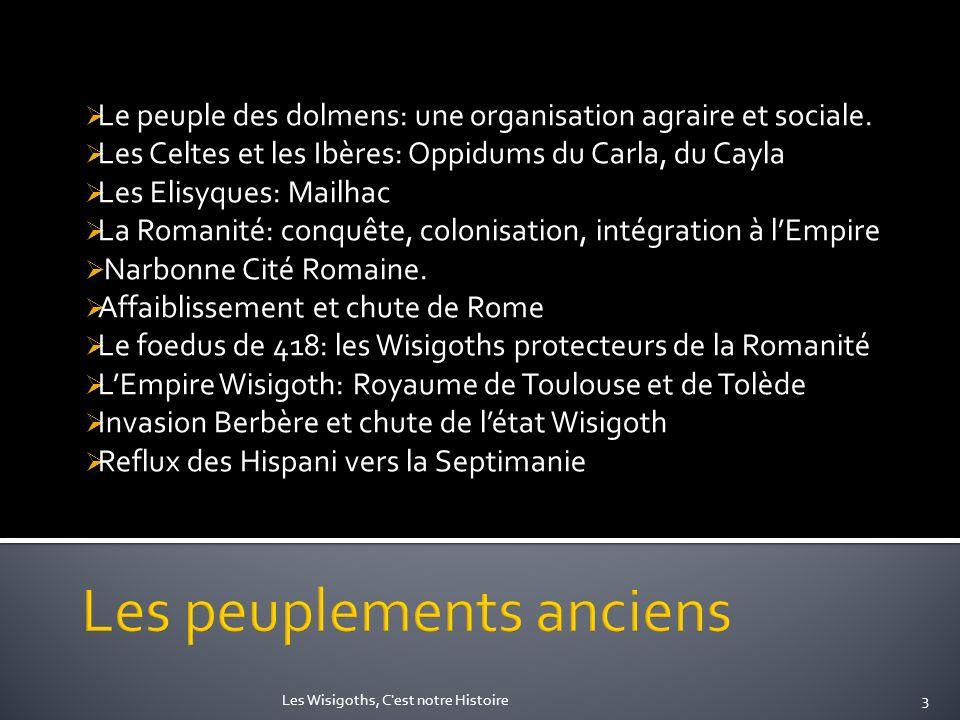 Les peuplements anciens