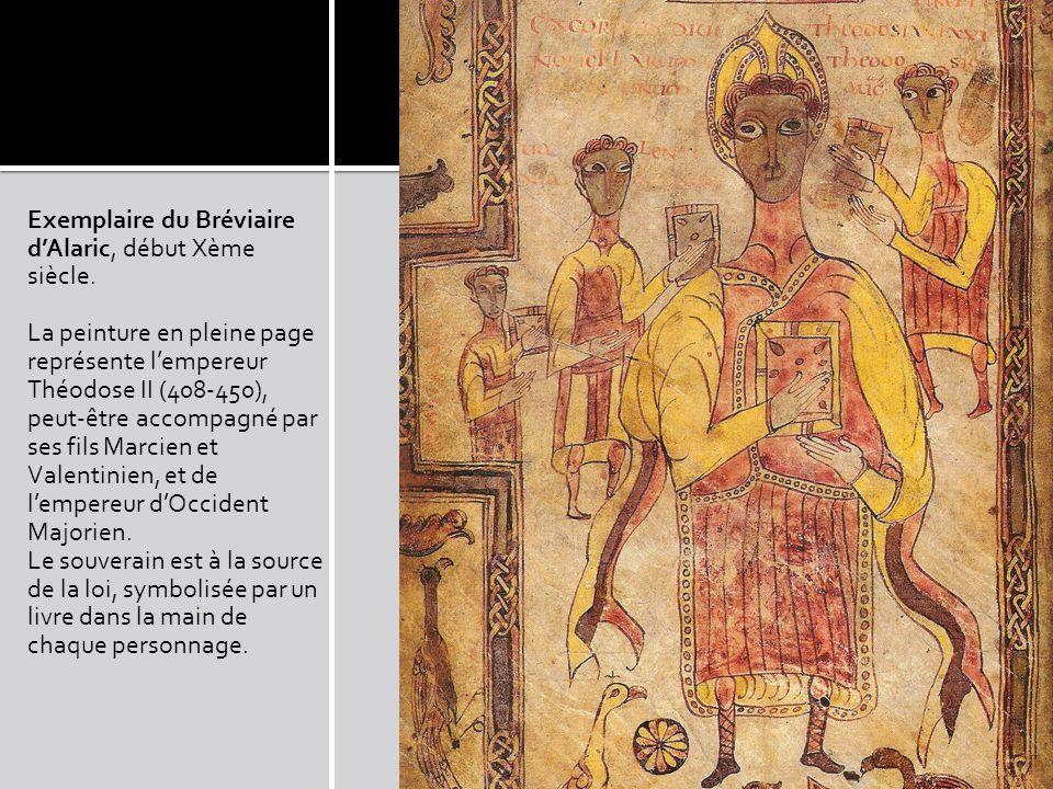 Exemplaire du Bréviaire d'Alaric, début Xème siècle.
