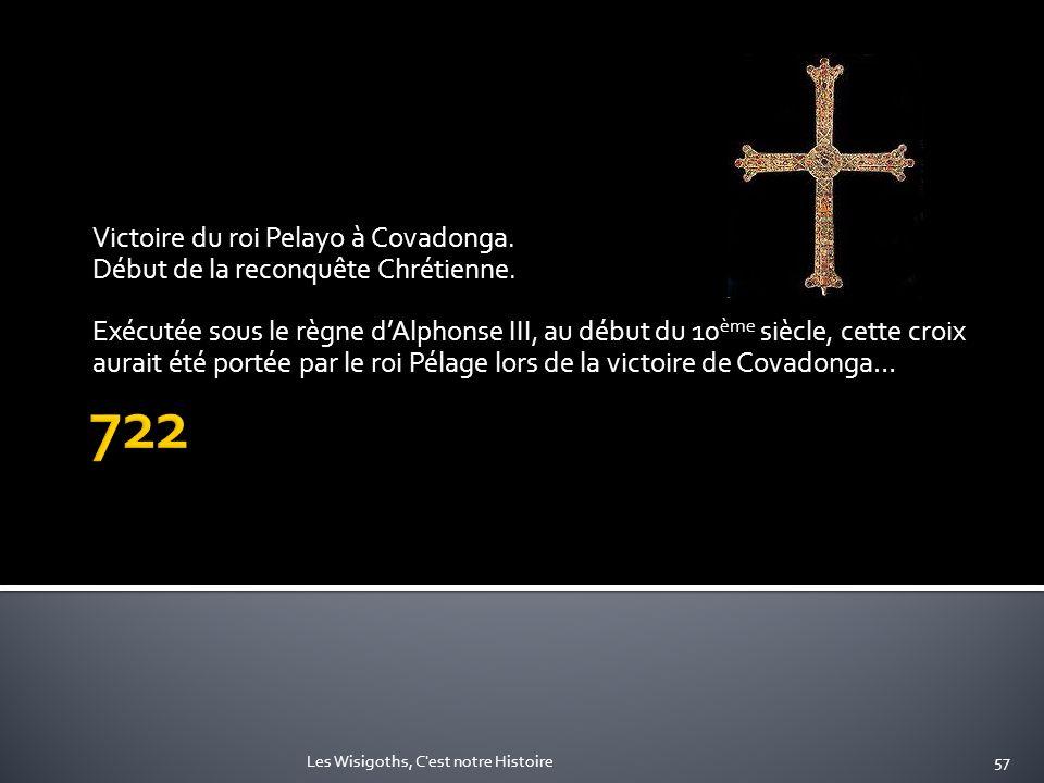 722 Victoire du roi Pelayo à Covadonga.