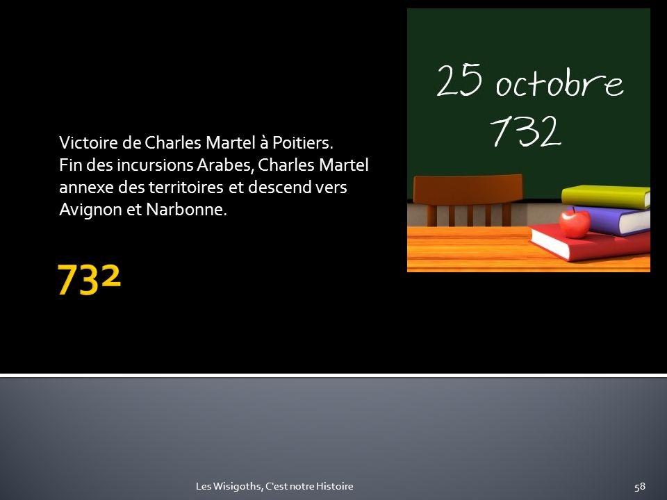 732 Victoire de Charles Martel à Poitiers.