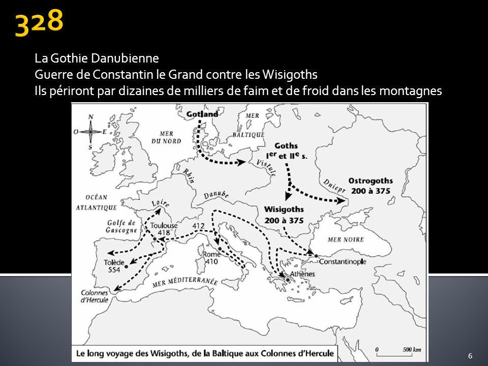328 La Gothie Danubienne. Guerre de Constantin le Grand contre les Wisigoths.