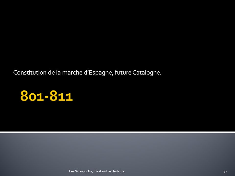 Constitution de la marche d'Espagne, future Catalogne.