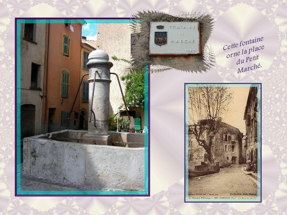 Cette fontaine orne la place du Petit Marché.