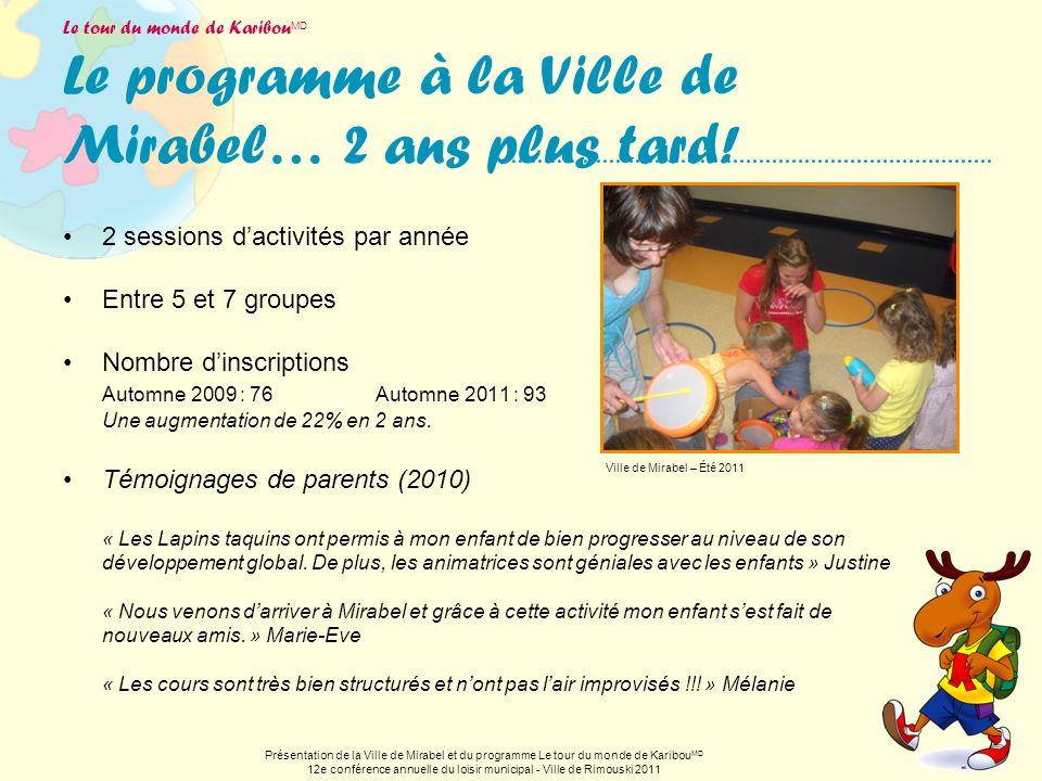 12e conférence annuelle du loisir municipal - Ville de Rimouski 2011