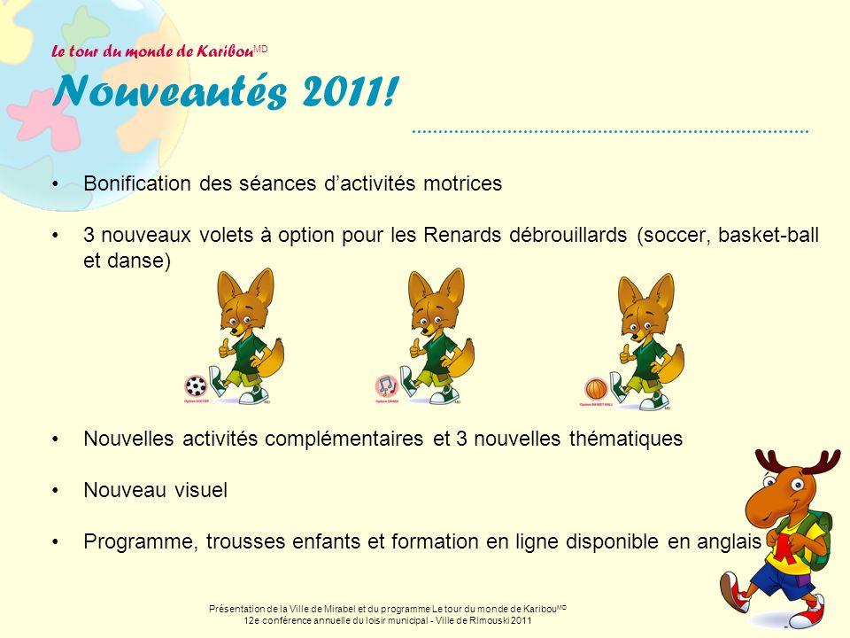 Le tour du monde de KaribouMD Nouveautés 2011!