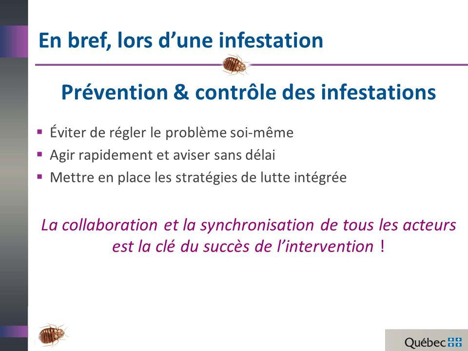 Prévention & contrôle des infestations