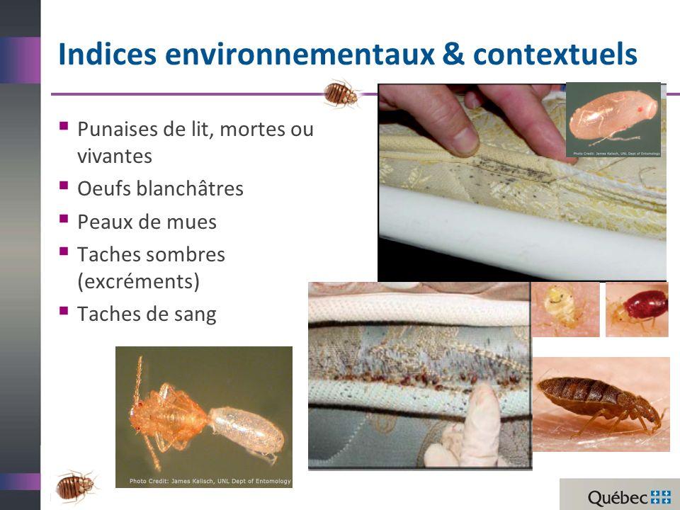 Indices environnementaux & contextuels
