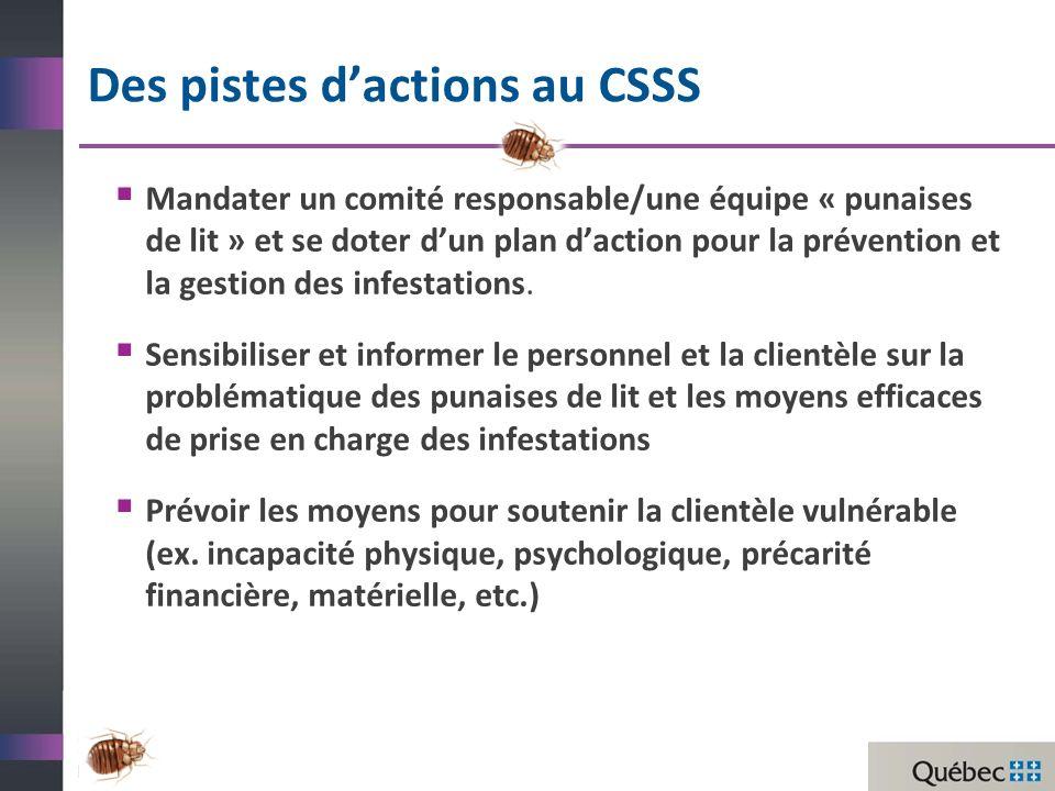 Des pistes d'actions au CSSS