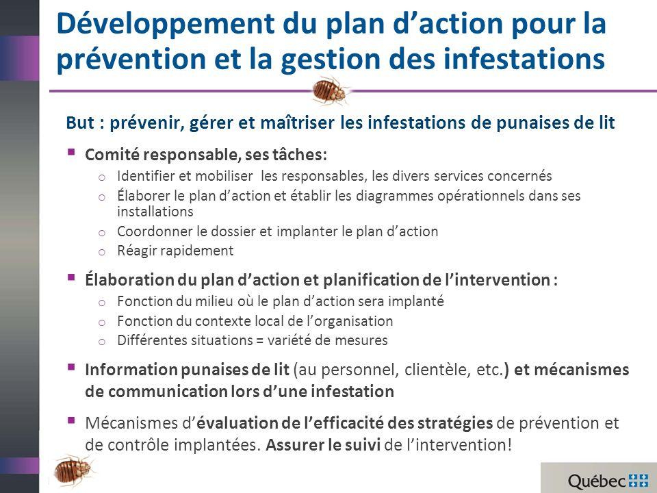 Un plan d'action pour la prévention et la gestion des infestations