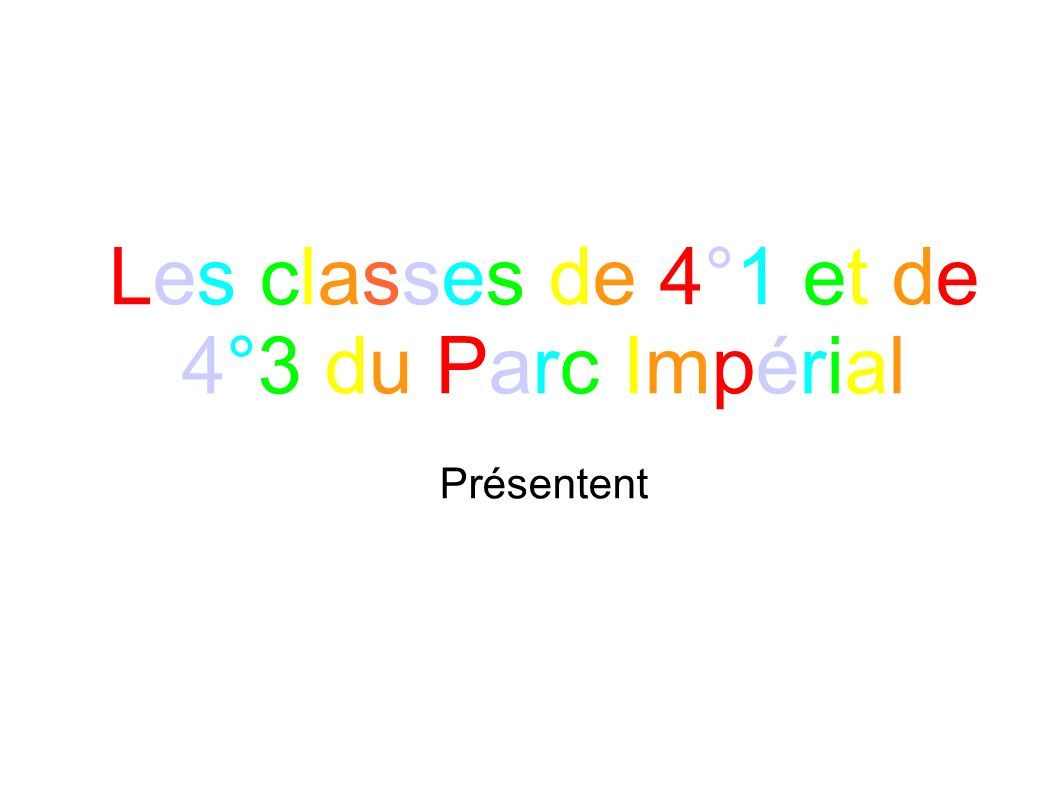 Les classes de 4°1 et de 4°3 du Parc Impérial
