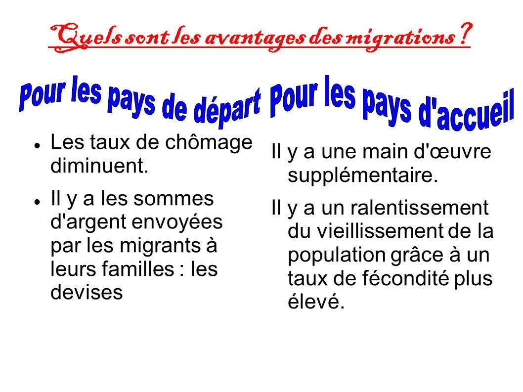 Quels sont les avantages des migrations