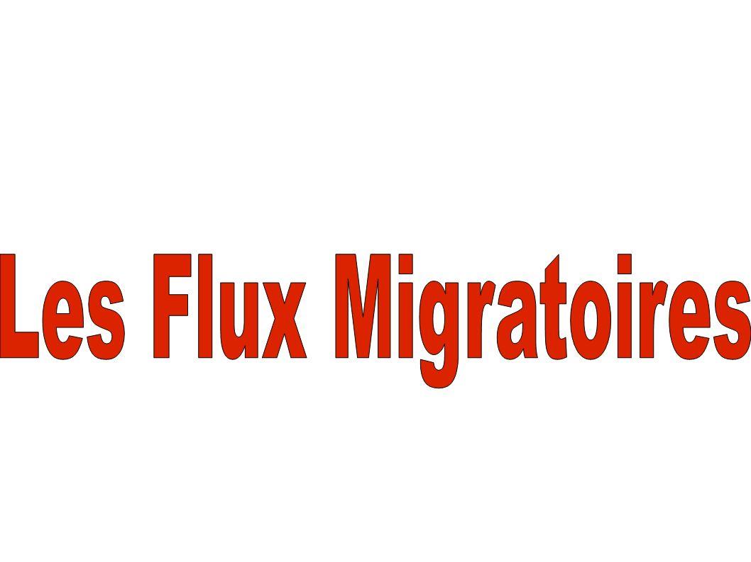 Les Flux Migratoires